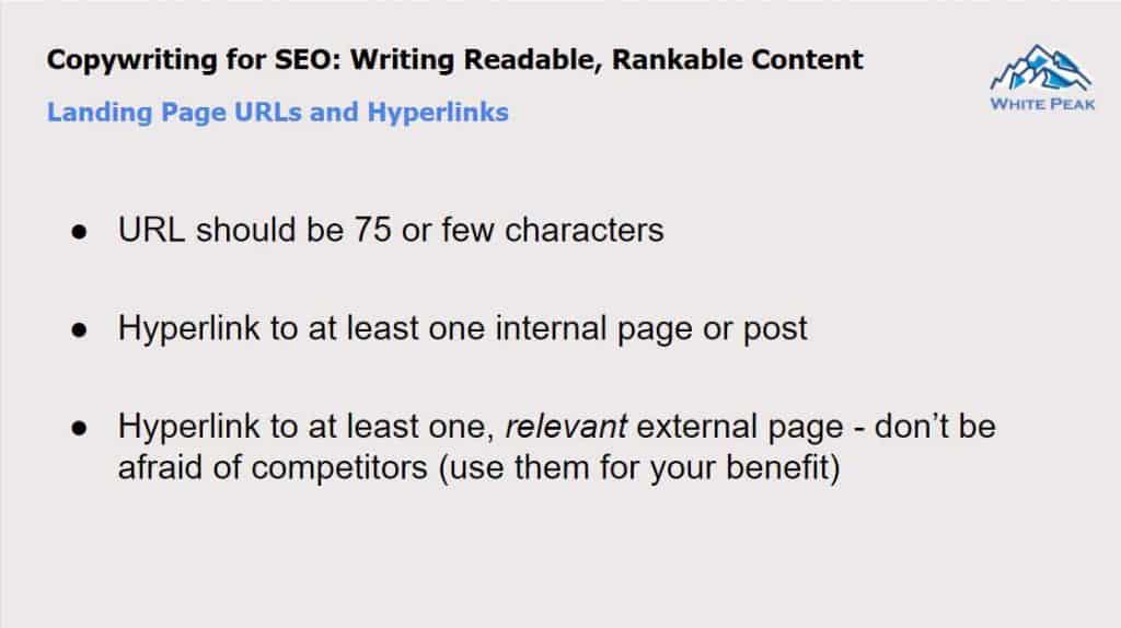 Landing Page Urls And Hyperlinks
